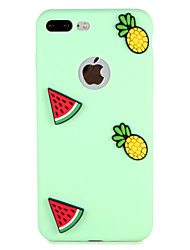 cheap -Case For Apple iPhone 7 Plus iPhone 7 Pattern Back Cover Fruit 3D Cartoon Soft Silicone for iPhone 7 Plus iPhone 7 iPhone 6s Plus iPhone