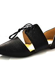Women's Sandals Light Soles Spring Summer PU Casual Flat Heel White Black Black/White Flat