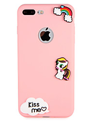 billige -Etui til Apple iPhone 7 plus 7 cover mønster bagcover case word sætning sceneri 3d tegneserie blød silikone 6s plus 6 plus 6 6s 5 5s