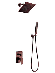 cheap -Shower Faucet - Contemporary Oil-rubbed Bronze Wall Mounted Ceramic Valve