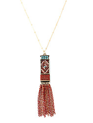 Women's Pendant Necklaces Jewelry Geometric Alloy Geometric Tassels Crossover Fashion Punk Hip-Hop Rock USA Jewelry ForBirthday