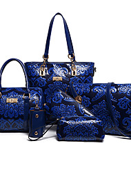 cheap -Women's Bags Special Material Bag Set 6 Pieces Purse Set for All Seasons Blue Black Red Beige Purple