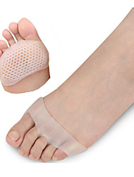 A Pair Of Cellular Breathable Soft Silicone Gel Toe Pads High Heel Shock Absorption Anti Slip-Resistant Metatarsal Foot