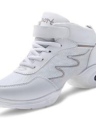 Недорогие -Жен. Обувь Полиуретан Весна / Осень Удобная обувь Спортивная обувь На плоской подошве Белый / Черный