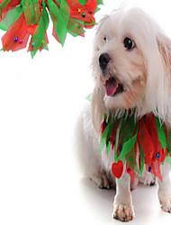 Собака пояс/Бабочка Одежда для собак Хэллоуин Рождество Новогодняя тематика Красный Радужный Костюм Для домашних животных