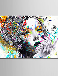 cheap -Art Print People Modern,One Panel Horizontal Print Wall Decor For Home Decoration