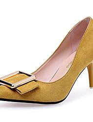 Femme Chaussures à Talons Escarpin Basique Daim Eté Mariage Décontracté Habillé Soirée & Evénement Marche Escarpin Basique Bout Métallique