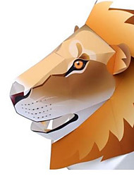 cheap -Halloween Masks Animal Mask Toys Animals DIY Square Dog Lion Bear Tiger 3D Hard Card Paper Horror Classic Pieces Not Specified Gift
