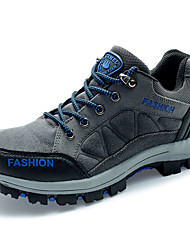 Hiking Shoes Men's Athletic Shoes Comfort Tulle Spring Fall Outdoor  Comfort Lace-up Flat Heel Khaki Blue Under 1in