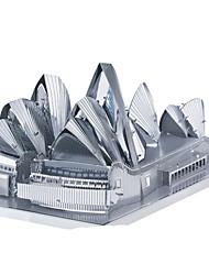 baratos -Carros de Brinquedo Quebra-Cabeças 3D Quebra-Cabeça Quebra-Cabeças de Metal Rectângular Tanque Castelo Construções Famosas Arquitetura 3D