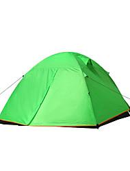 3-4 personnes Tente Double Tente de camping Une pièce Tente pliable pour Camping / Randonnée Chasse Pêche Camping Voyage 2000-3000 mm