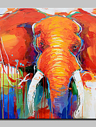 Big Size Hand-Painted Elephant Animal Oil Painting On Canvas Wall Art Picture For Home Decoration No Frame