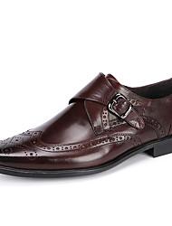 Недорогие -Муж. обувь Кожа Весна Осень Формальная обувь Свадебная обувь для Свадьба Для вечеринки / ужина Черный Кофейный