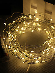 cheap -String Lights 30 SMD LEDs Warm White White Pink Purple Green Yellow Blue Red Waterproof DC 4.5V DC4.5