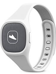 Per uomo Orologio sportivo Smart watch Cinese Digitale LED Velocimetro Pedometro Fitness tracker PU Banda Casual Nero Bianco