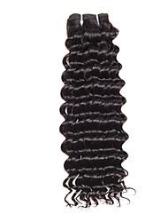 baratos -Cabelo Brasileiro Encaracolado / Clássico / Weave Curly Cabelo Virgem Cabelo Humano Ondulado Tramas de cabelo humano Preto Natural