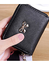 cheap -Women's Bags PU Money Clip for Casual All Seasons Black Purple Red