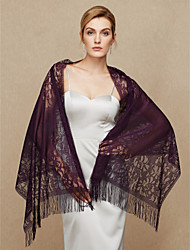Women's Wrap Shawls Lace Wedding Party/ Evening Lace Tassel(s)