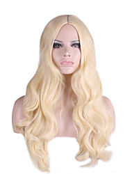 Synthetic Natural Wig Curly Long Blonde Wig for Women Costume Wig Capless Wig