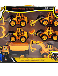 cheap -Toy Cars Toys Pull Back Car/Inertia Car Motorcycle Construction Vehicle Dozer Excavator Toys Extra Large Rectangular Excavating Machinery