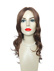 cheap -Brown Synthetic Wigs Long Deep Wave Heat Resistant Hairstyle Costume Wig For Women