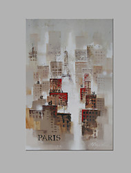 IARTS® Modern Abstract Paris City Architecture Scenery Handmade Oil Painting On Canvas with Stretched Frame Wall Art For Home Decoration Ready To Hang