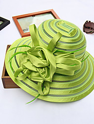 Women's Mesh Bucket Sun HatHat Flower Striped Spring/Fall 7 Colors to Choose Summer Stripe Hats