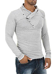Men's Athleisure Active Long Cardigan,Solid V Neck Long Sleeve Organic Cotton Spring Fall Medium Micro-elastic