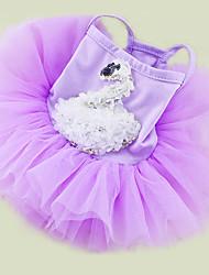 economico -Cane Vestiti Abbigliamento per cani Casual Da principessa Bianco Viola Rosa Costume Per animali domestici