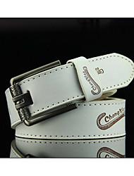 Young men's fashion belts embossing joker han edition business belts cowboy belts student leisure trend