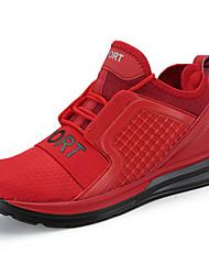 economico -Da uomo Sneakers Comoda PU (Poliuretano) Primavera Autunno Piatto Bianco Nero Grigio Rosso Piatto