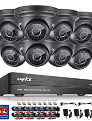 cheap -SANNCE® 8CH CCTV Security System Onvif 1080P AHD/TVI/CVI/CVBS/IP 5-in-1 DVR with 8*2.0MP Waterproof Cameras No HDD
