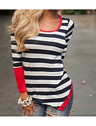 Women's Sports Going out Casual/Daily Sexy Cute Street chic T Shirt Dress,Solid Striped Round Neck Asymmetrical Long SleeveCotton