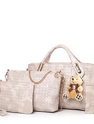 cheap -Women's Bags PU(Polyurethane) Bag Set 4 Pieces Purse Set Black / Red / Brown / Bag Sets