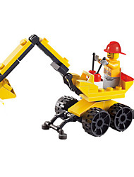 cheap -Building Blocks Toy Cars Excavator Toys Square Excavating Machinery Unisex Pieces