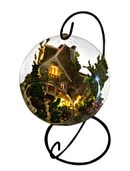 cheap -Balls Toys DIY House Glass Natural Wood Classic Romantic Pieces Unisex Gift