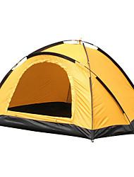 billige -2 personer Telt til trekking Enkeltlags Stang Kuppel camping telt Udendørs Vindtæt, Vandtæt, Regn-sikker for Vandring / Camping / Rejse <1000 mm Glasfiber, Oxford 210*150*120 cm