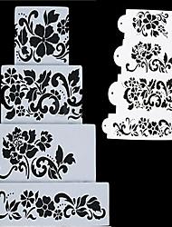 Недорогие -4pcs цветы fondend украшение торт шаблона шаблона формы выпечки инструменты