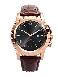 Per uomo Smart watch Orologio alla moda Digitale Termometri Resistente all'acqua PU Banda Nero Marrone