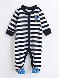 cheap -Baby Boys' Stripes One-Pieces,Cotton Spring/Fall Long Sleeve Blue