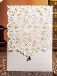 cheap -Wrap & Pocket Wedding Invitations 50 - Invitation Cards Classic Style Embossed Paper