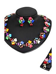 Femme Set de Bijoux Collier / Bracelet Nuptiales Parures Strass Classique Rétro euroaméricains Style Simple Mode Mariage Soirée Occasion