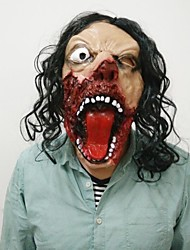 Sparta réaliste masque d'horreur masque de silicone pleine tête perruque effrontée cyclopes masques halloween film thème fête cosplay