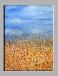 billige -Hang-Painted Oliemaleri Hånd malede - Abstrakt Moderne Lærred / Stretched Canvas
