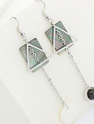 Stud Earrings Drop Earrings New Mismatching Asymmetry Earrings  Personalized Copper Pearl Geometric For Women Party Gift Jewelry
