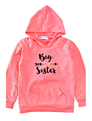 Girls' Print Tee Cotton Spring Fall Long Sleeve Regular Big Sister Kids Girls Hoodies Tops T Shirt Autumn Winter Clothes