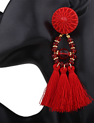 Women's Drop Earrings Tassel Costume Jewelry Polyresin Alloy Jewelry For Wedding Anniversary Party/Evening Office/Career Event/Party