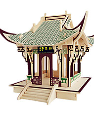 cheap -3D Puzzles Wood Model Model Building Kit Famous buildings Furniture House DIY Wood Classic Unisex Gift