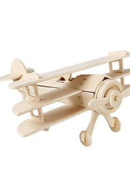 cheap -3D Puzzles Jigsaw Puzzle Wood Model Plane / Aircraft Fighter Famous buildings Architecture 3D DIY Wood Classic 6 Years Old and Above