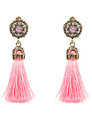 cheap -Women's Tassel / Long Drop Earrings - Bohemian, Fashion, Boho Purple / Hot Pink / Light Blue For Party